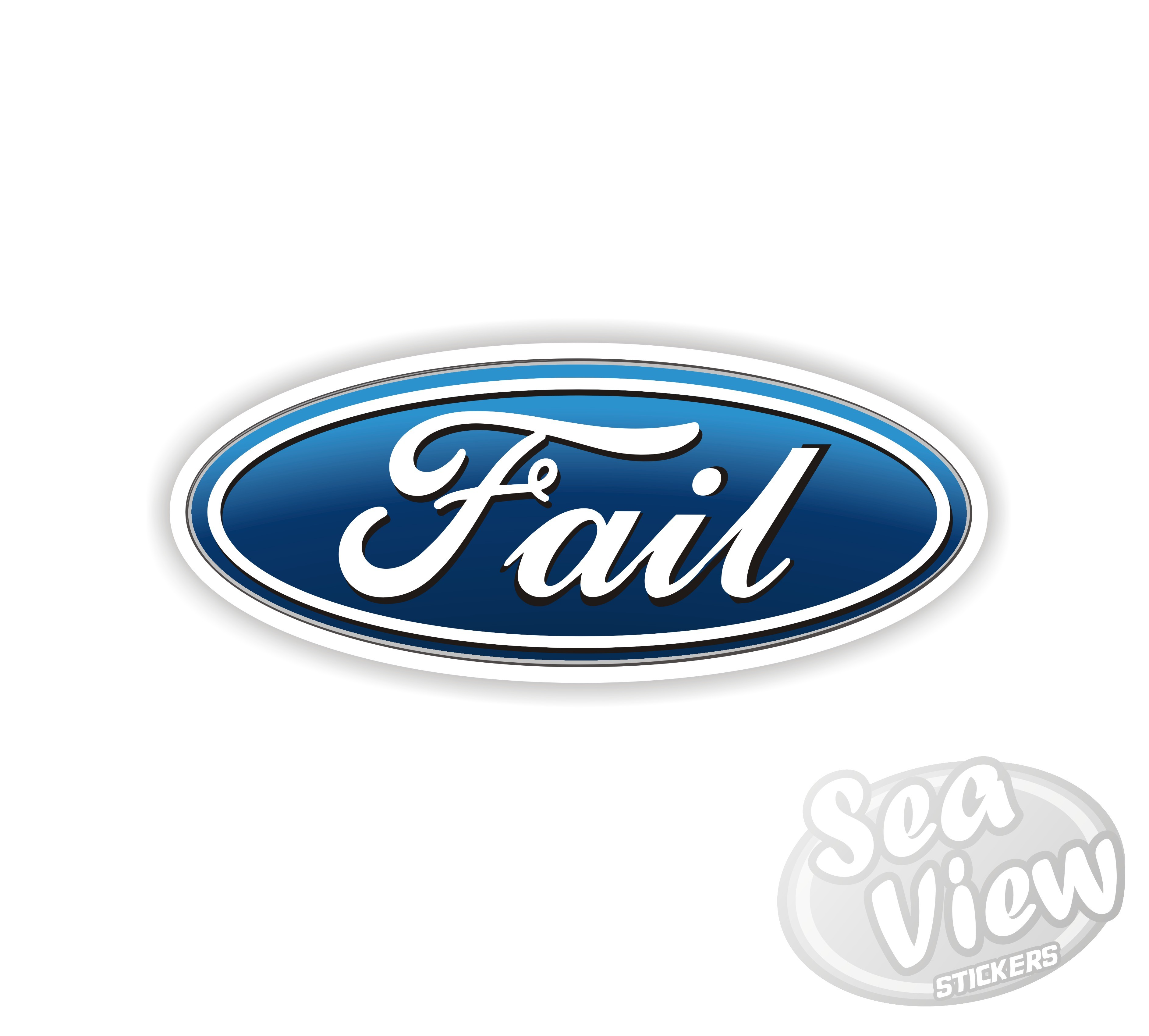 Ford Service Decals : Ford fail sticker