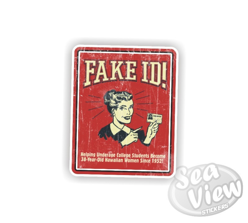 Retro Fake ID Sticker