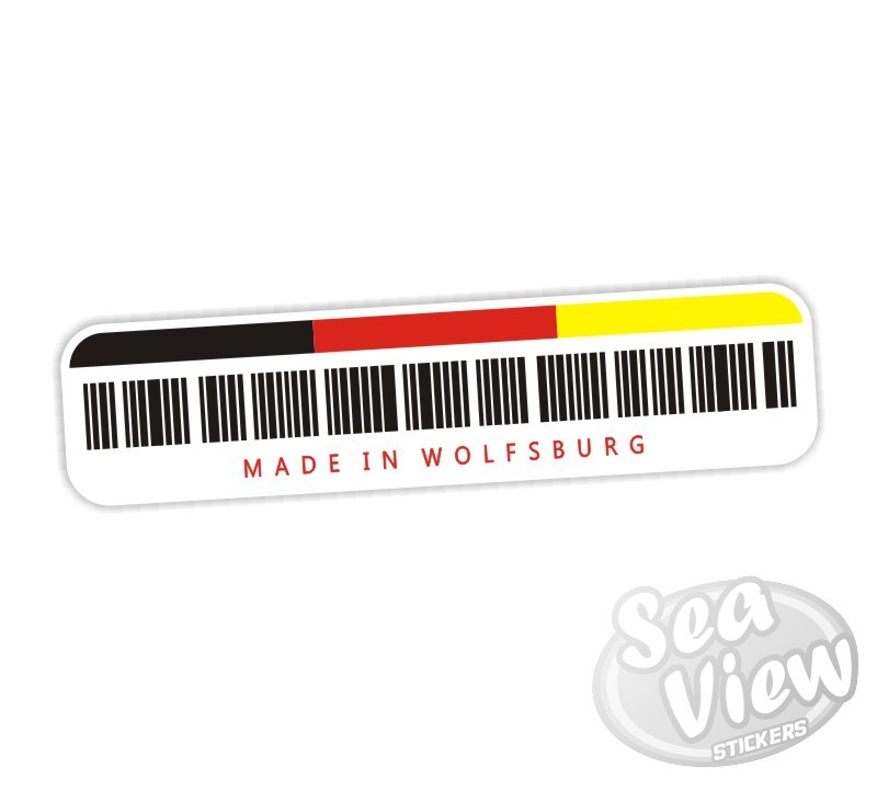 Made in wolfsburg sticker