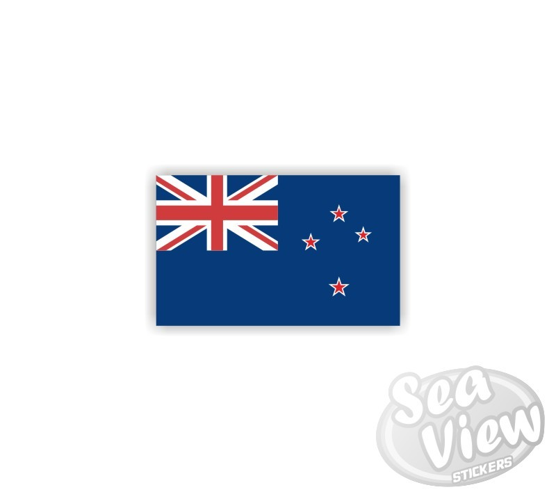Mini new zealand flag sticker