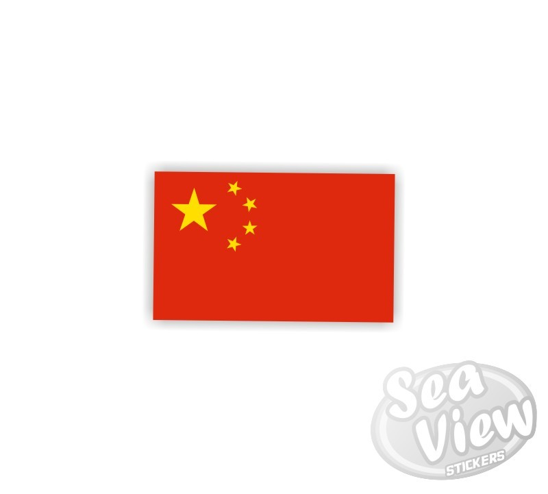 Mini chinese flag sticker