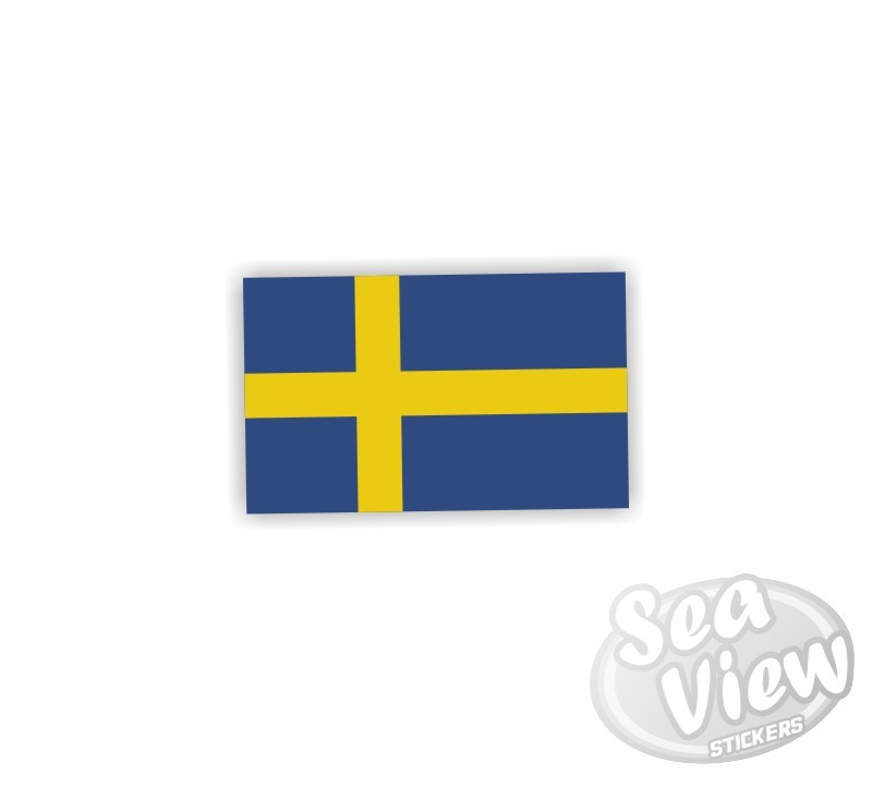 Mini swedish flag sticker