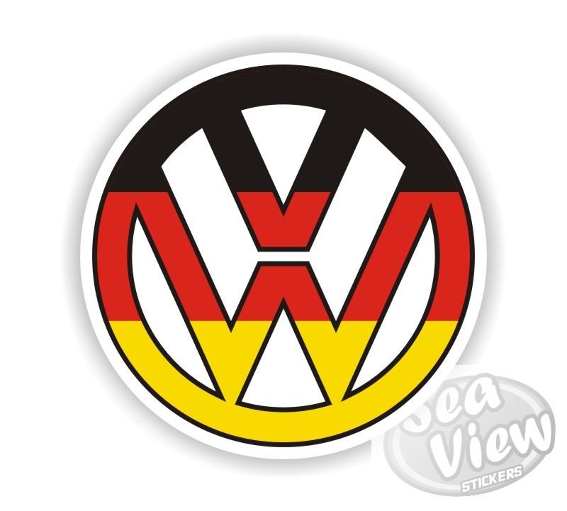 Vw german flag logo sticker