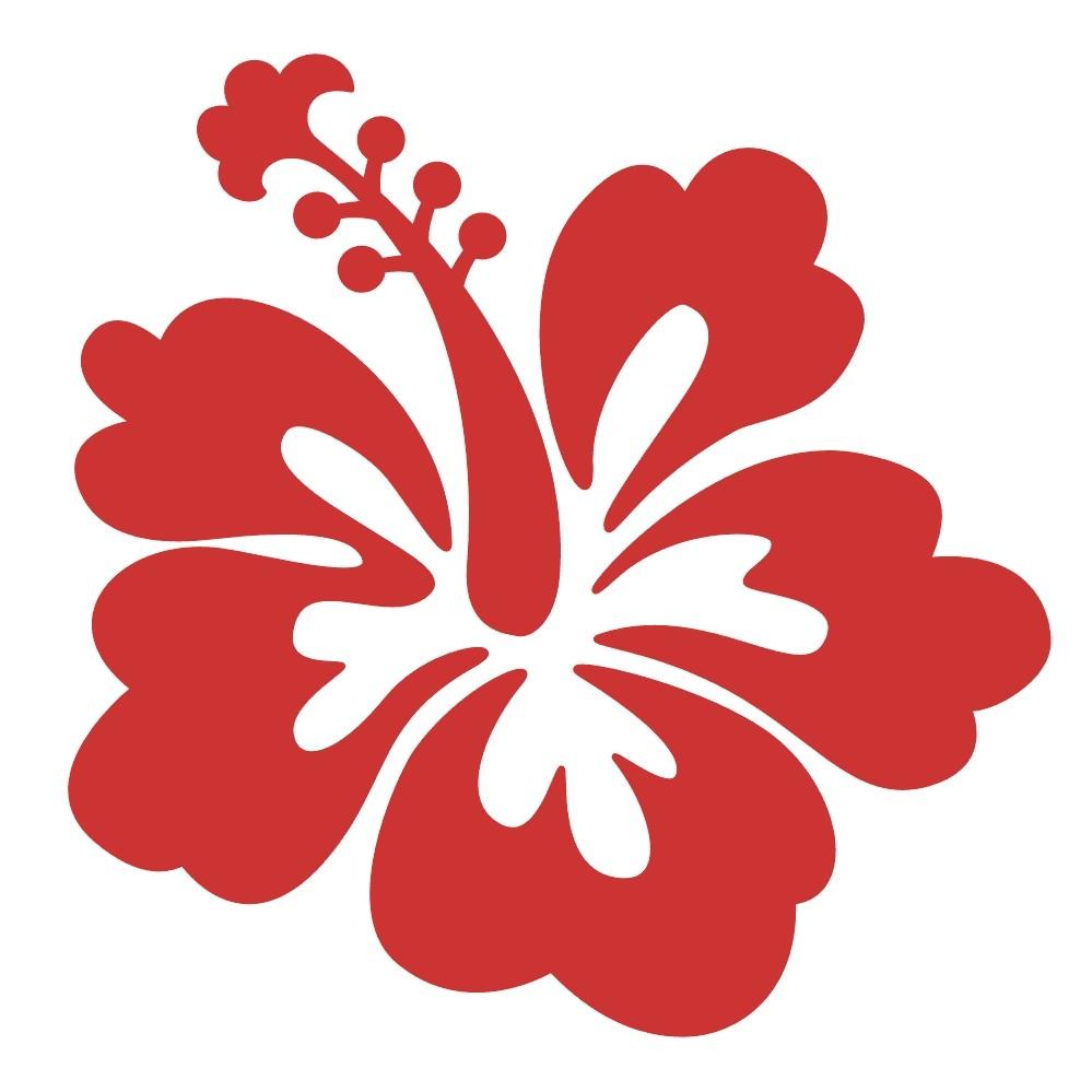 18 hibsicus flower stickers izmirmasajfo