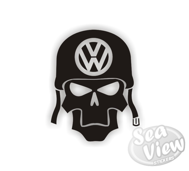 Volkswagen Army Skull Sticker