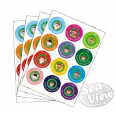 48 x Personalised Assorted Present Stickers