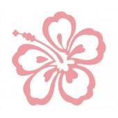 12 Hibiscus Flower Stickers
