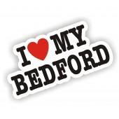 I Heart My Bedford Sticker