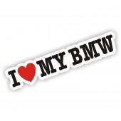 I Heart My BMW Sticker