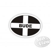 Bude Oval Sticker