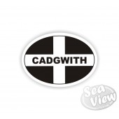 Cadgwith Oval Sticker