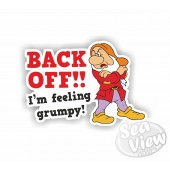 Back Off Im Feeling Grumpy Sticker
