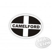 Camelford Oval Sticker