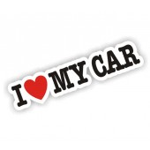 I Heart My Car Sticker