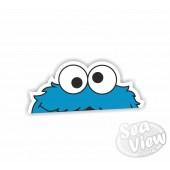Peeping Cookie Monster Sticker