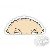 Peeping Stewie Sticker