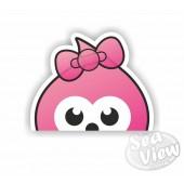 Peeping Zingy Girl Sticker