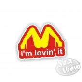 Im Lovin' It Sticker