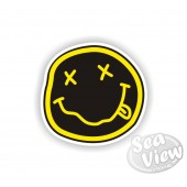 Nirvana Style Smiley Face Sticker