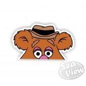Peeping Fozzy Bear Sticker