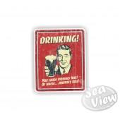Retro Drinking Sticker