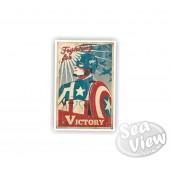 Retro Captain America Sticker