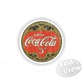 Retro Coca Cola 5 Cent Sticker