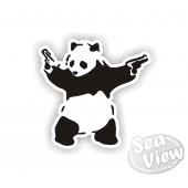 Banksy Panda Sticker