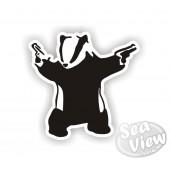 Banksy Badger Sticker