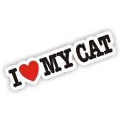 I Heart My Cat Sticker