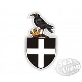 Chough on St. Piran's Flag Sticker