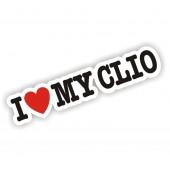 I Heart My Clio Sticker