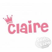 Custom Name/Slogan Crown Sticker