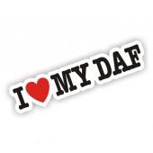 I Heart My DAF Sticker