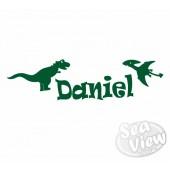 Custom Name/Slogan Dinosaurs Sticker