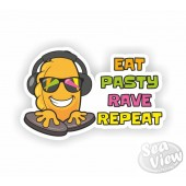 Eat Pasty Rave Repeat Sticker