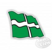 Devon Wavy Flag Sticker