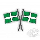 Devon Double Flag Sticker