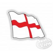 England Wavy Flag Sticker