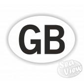 GB Plain Oval Sticker