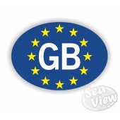 GB Euro Oval Sticker