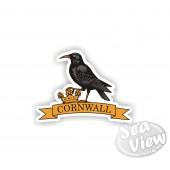 Chough Cornwall on Banner Sticker