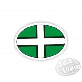 Devon Plain Oval Sticker