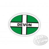 Devon Oval Sticker