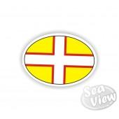 Dorset Plain Oval Sticker