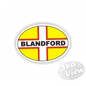 Blandford Oval Sticker