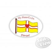 My Heart is in Dorset Sticker