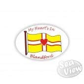 My Heart is in Blandford Sticker