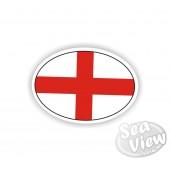 England Plain Oval Sticker