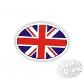 GB Oval Sticker